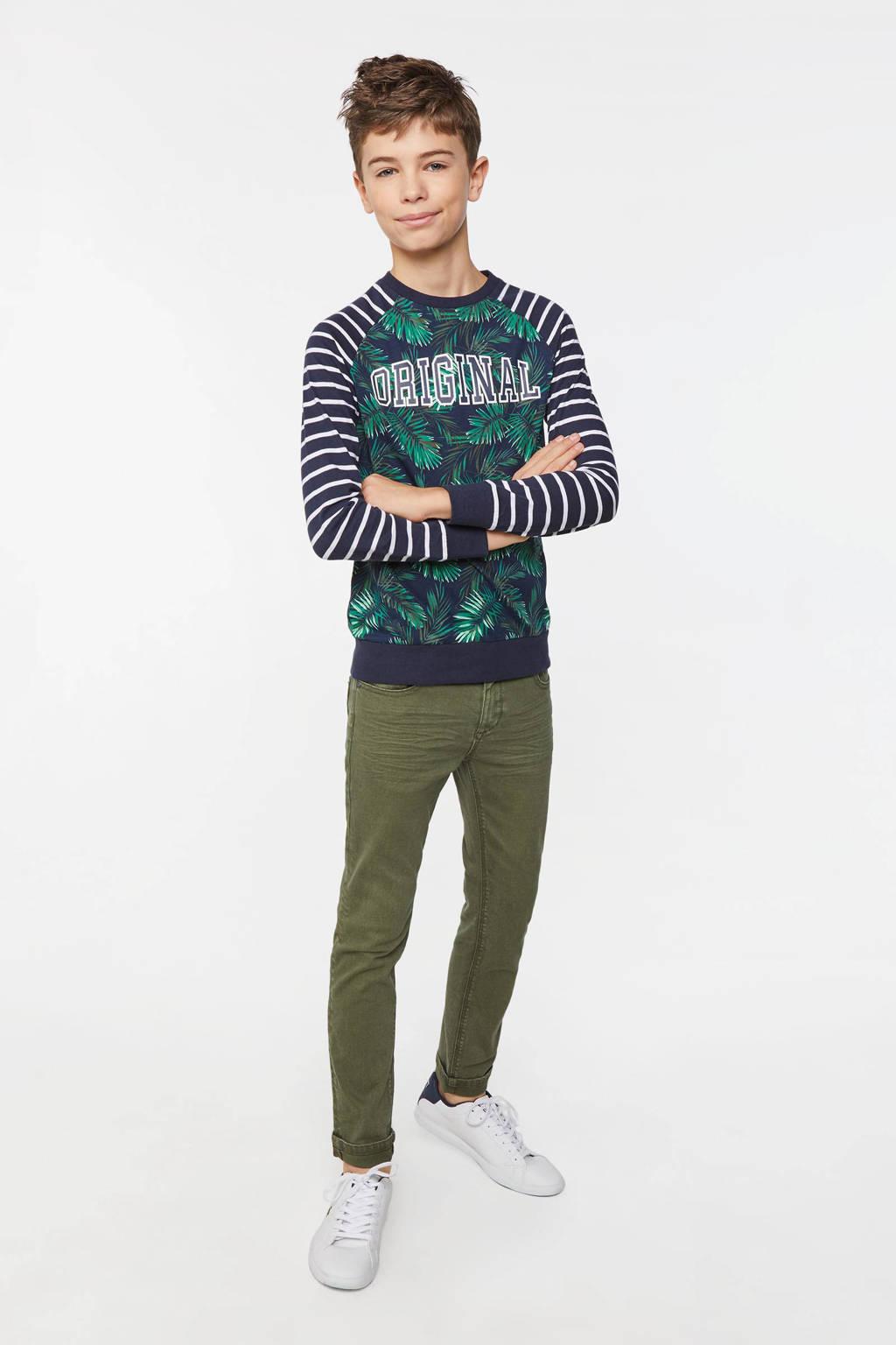WE Fashion Blue Ridge skinny jeans kaki, Kaki
