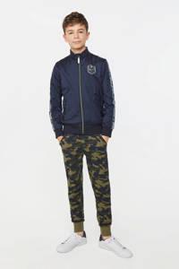WE Fashion   joggingbroek met camouflageprint donkergroen/groen, Donkergroen/groen