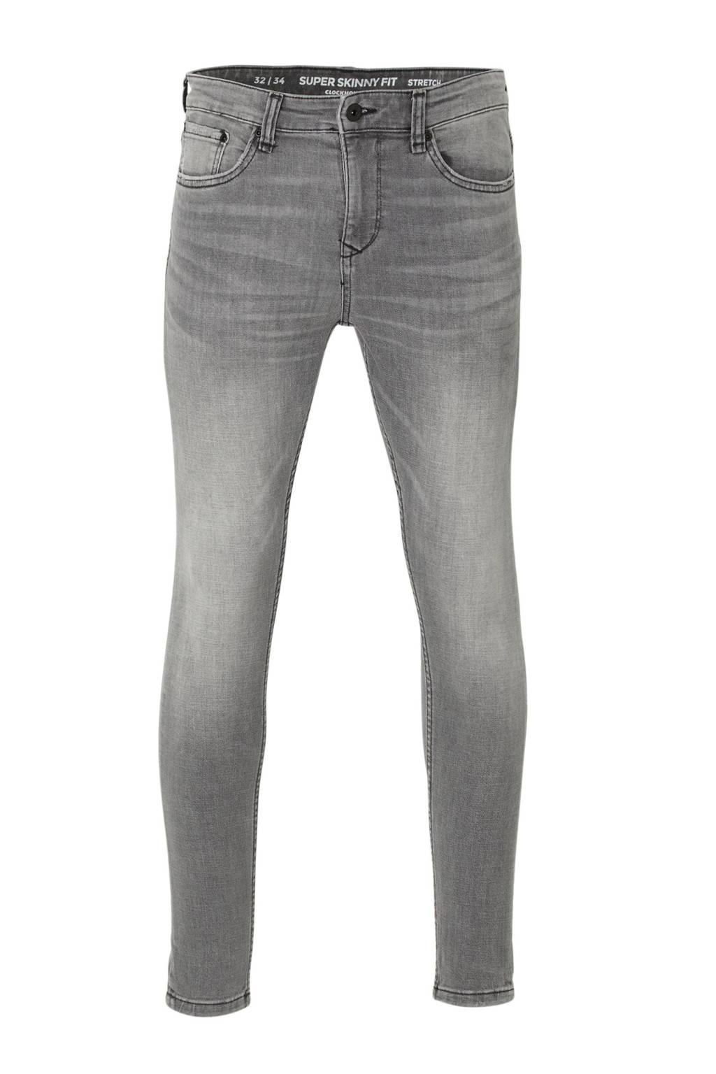 C&A Clockhouse super skinny jeans grijs, Grijs