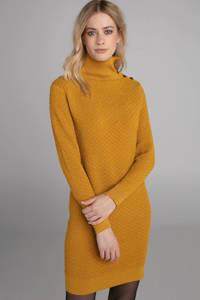 Claudia Sträter jurk met wol oker, Oker