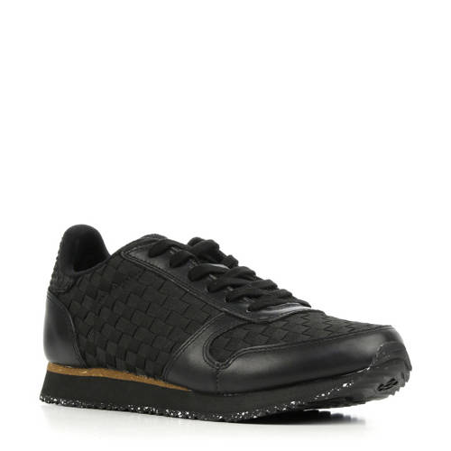 Woden Ydun NSC leren sneakers zwart