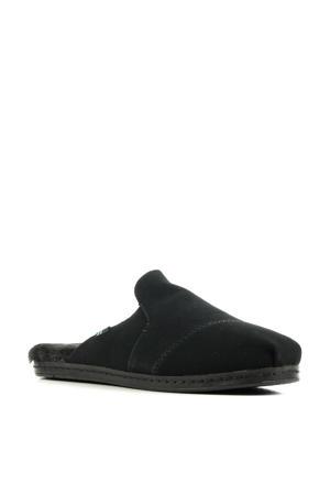 Nova suède pantoffels zwart