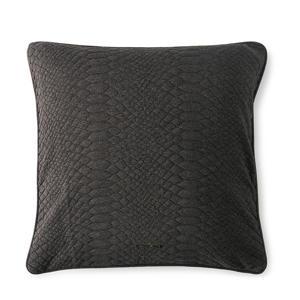 Cosy Texture grijs kussenhoes 50x50 cm