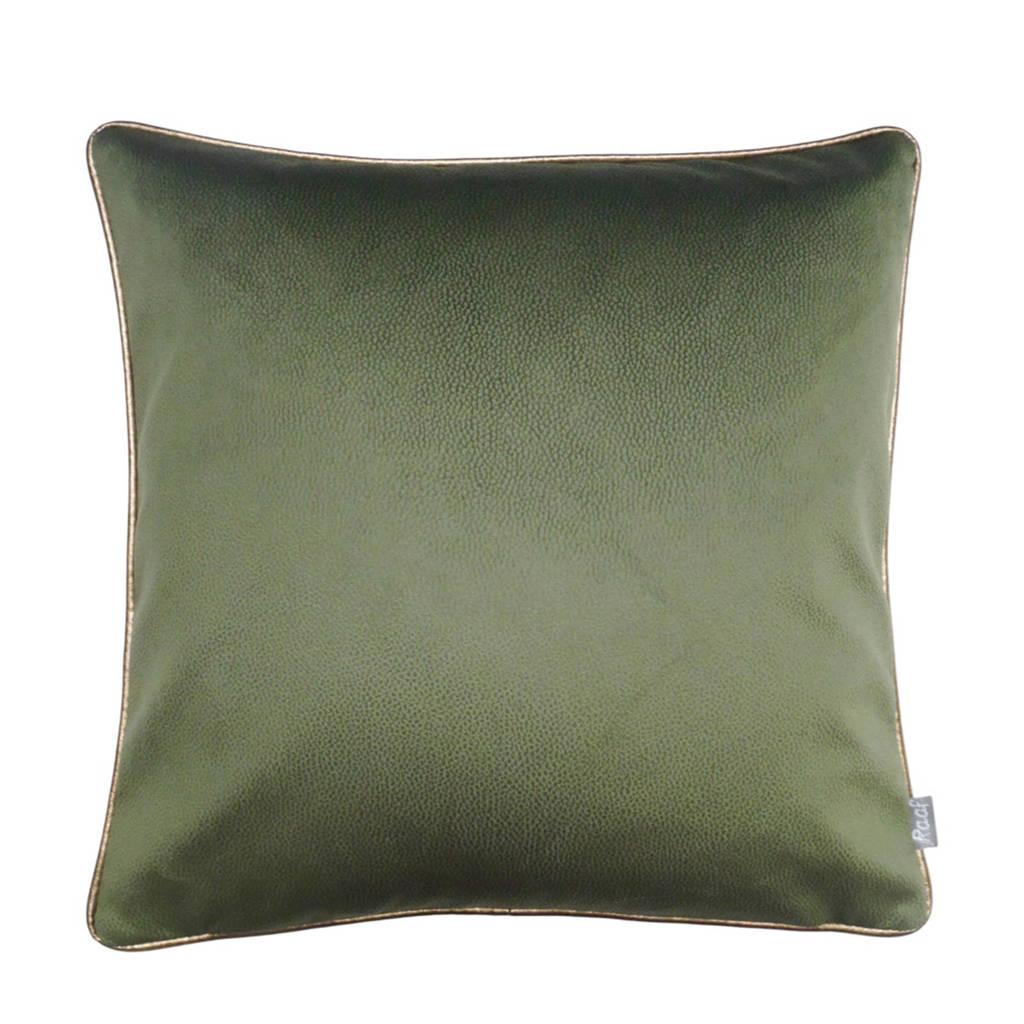 Raaf sierkussenhoes Soft  (50x50 cm), Groen, goud