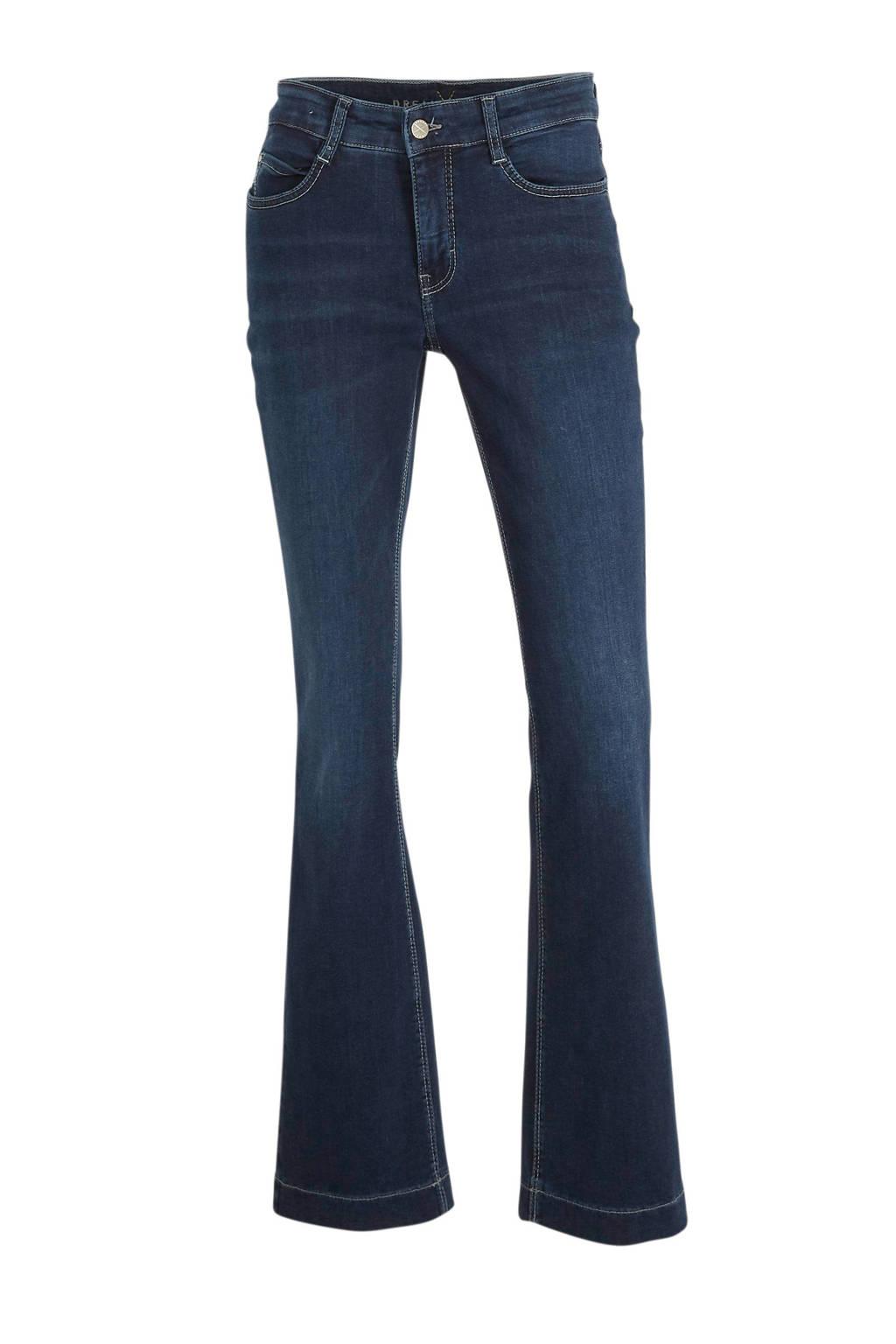 MAC low waist flared jeans donkerblauw, Donkerblauw