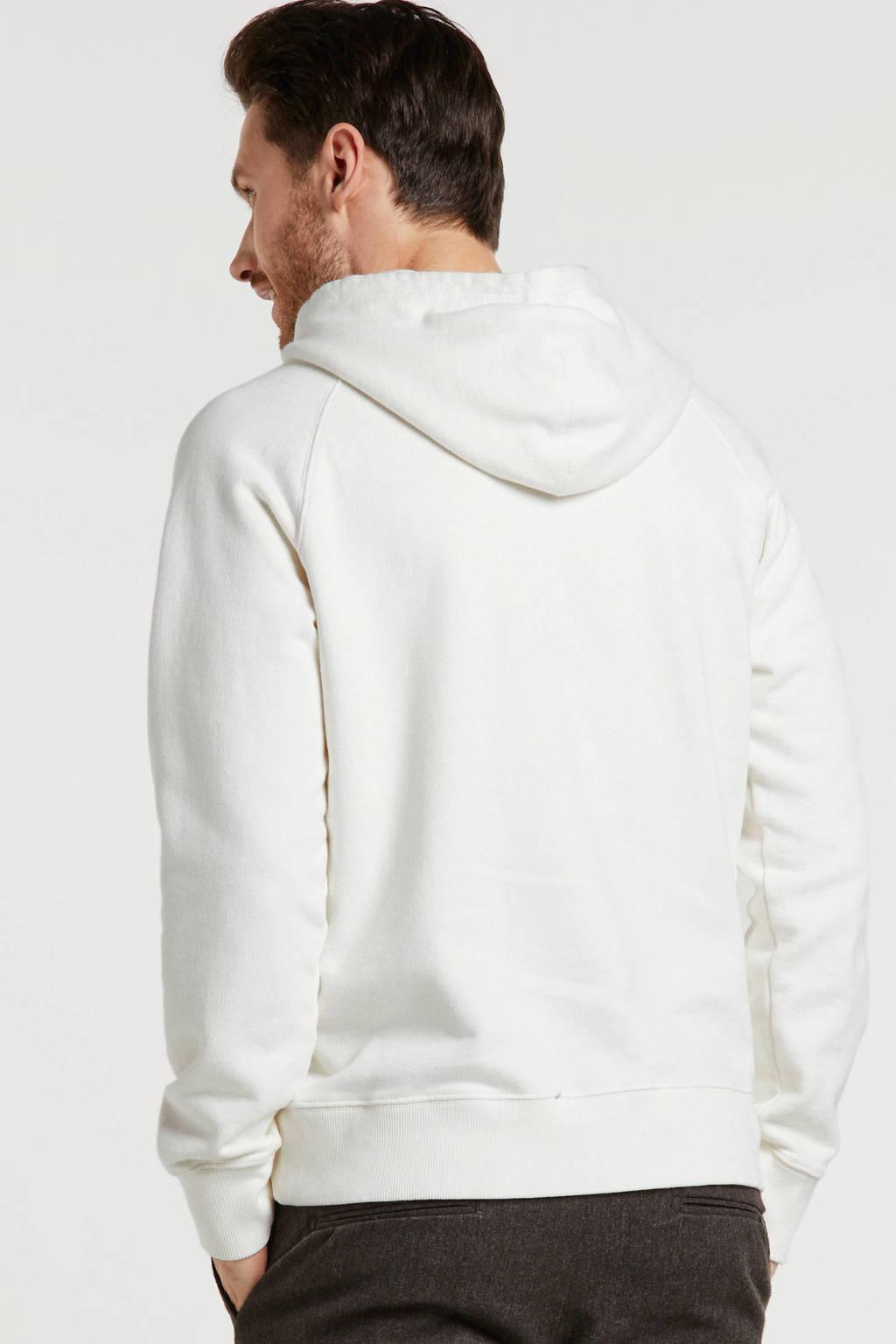Nudie Jeans hoodie ecru, Ecru