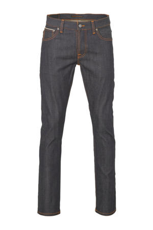 regular fit jeans Grim Tim donkerblauw/oranje