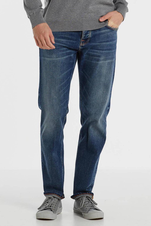 Nudie Jeans regular fit jeans Steady Eddie II indigo shades, Indigo Shades