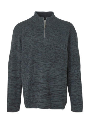 gemêleerde trui grijsgroen
