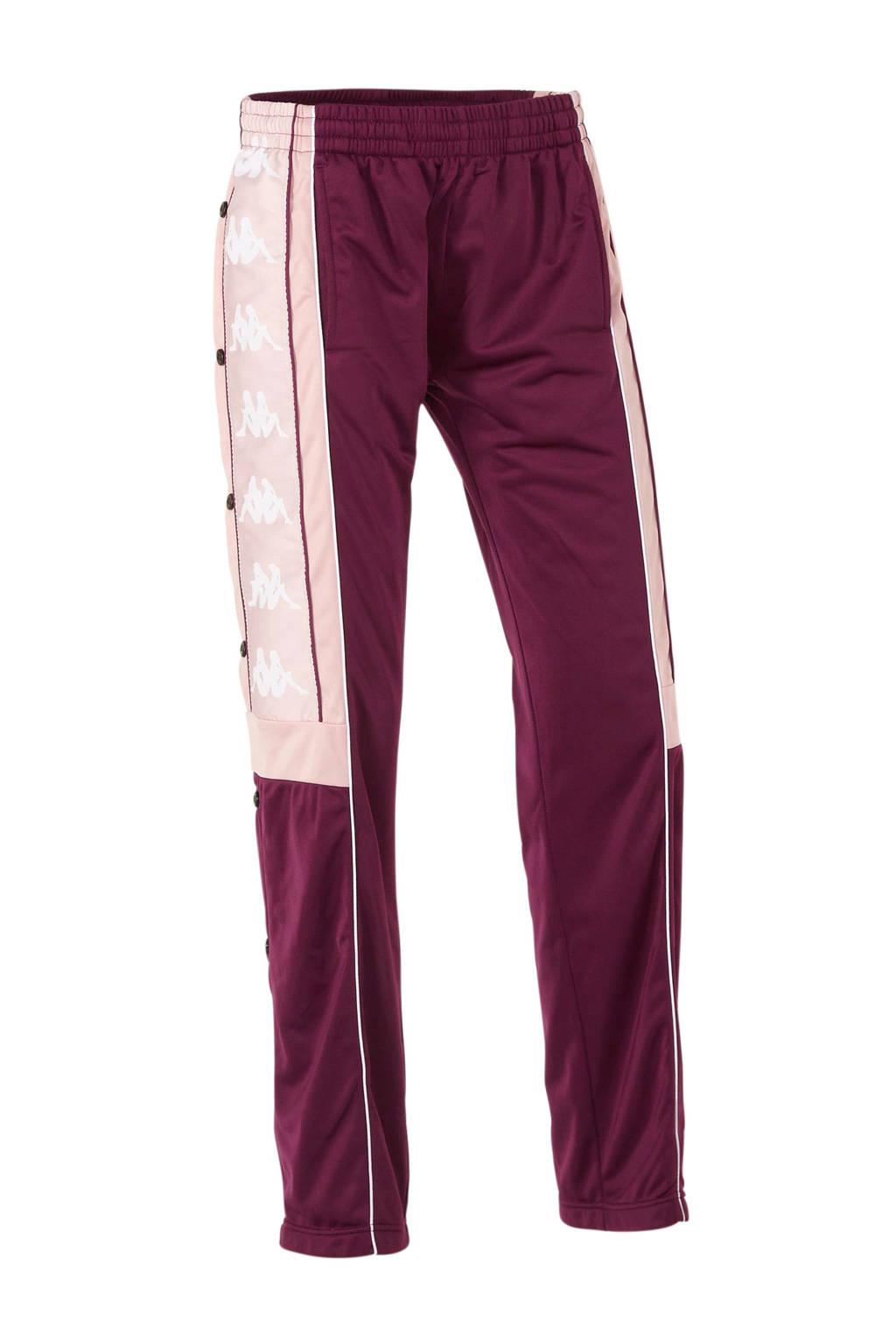 Kappa sportbroek bordeaux rood/roze, Bordeaux rood/roze