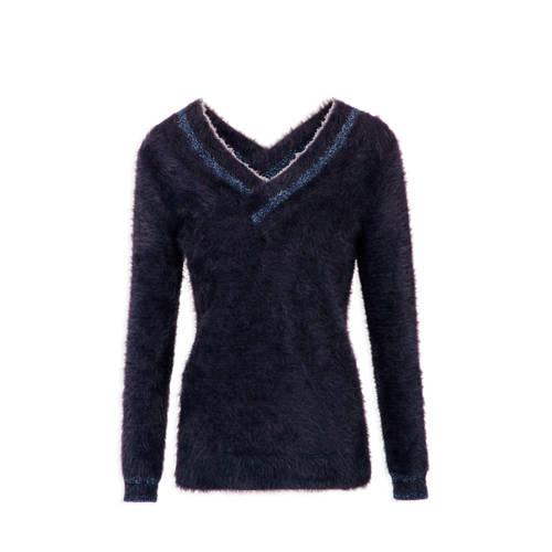 Morgan trui met glitters donkerblauw