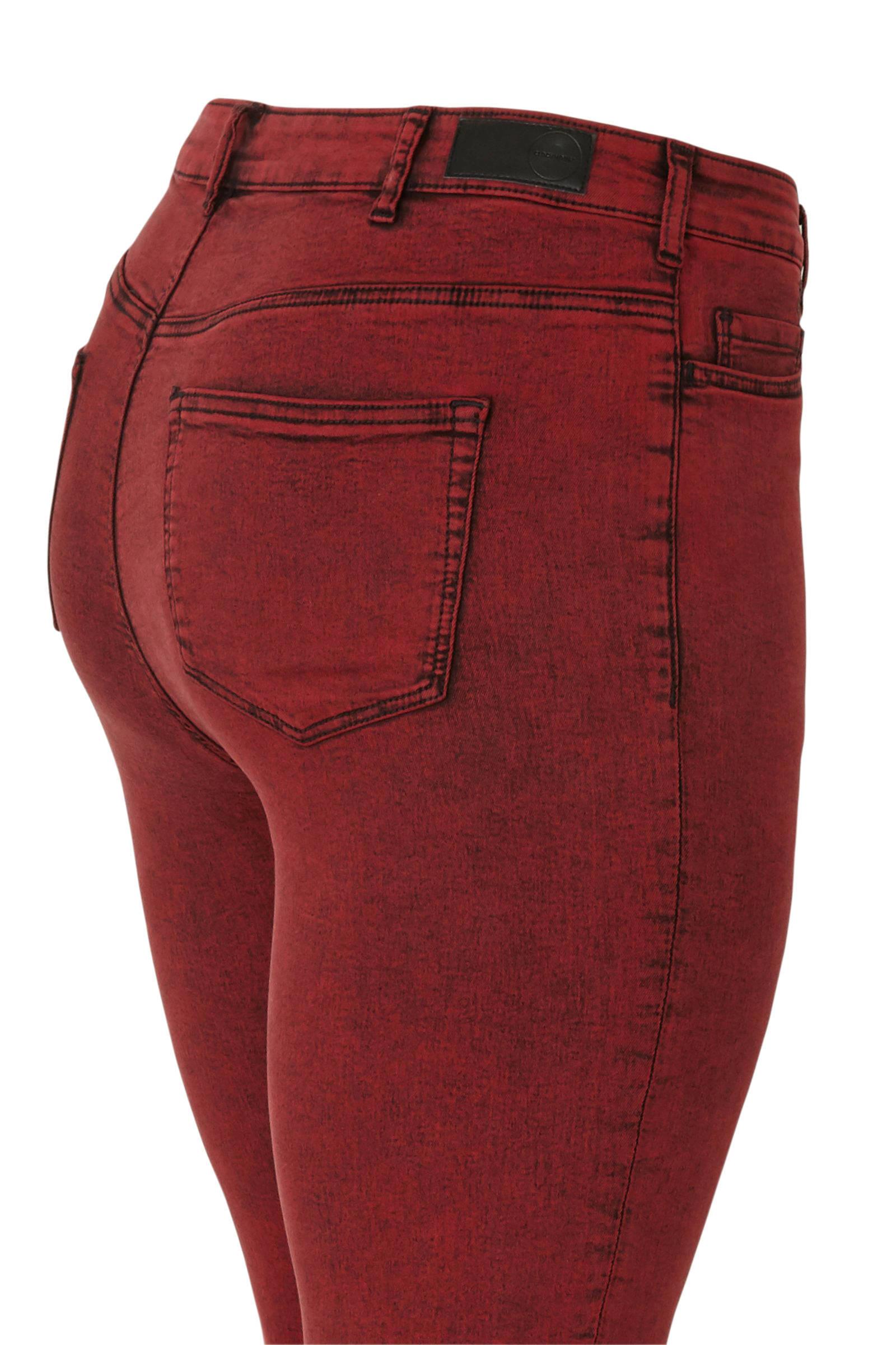 C&A XL Clockhouse high waist super skinny broek rood | wehkamp