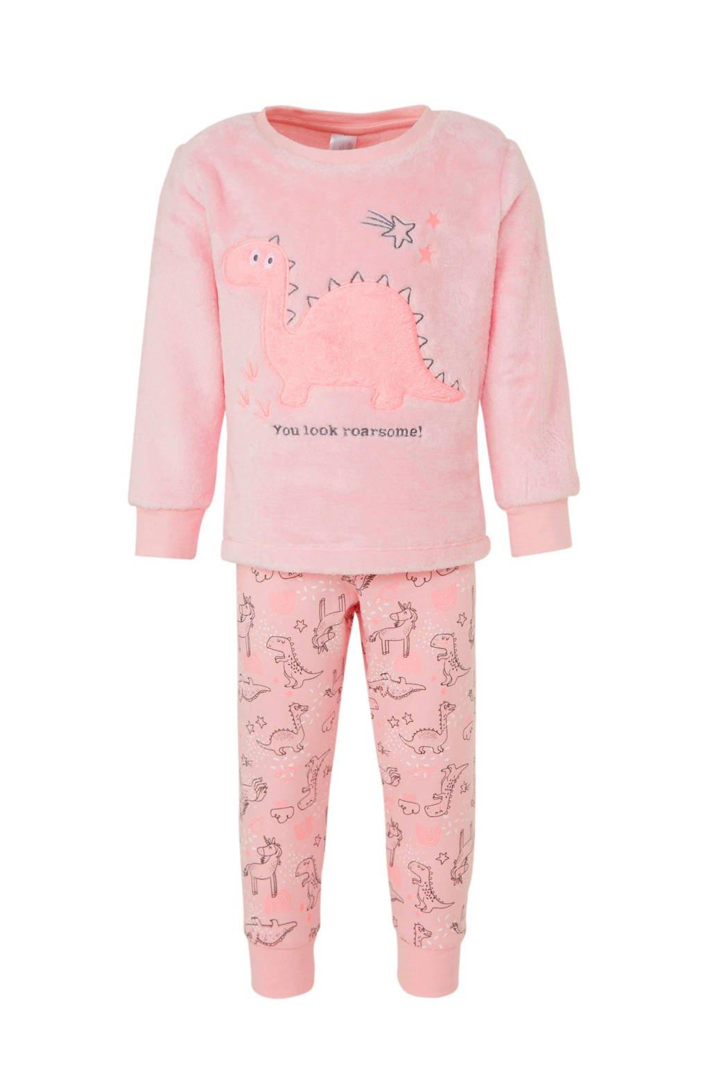 C&A Palomino pyjama met all over print roze, Lichtroze