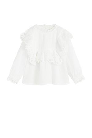 blouse met borduursels wit