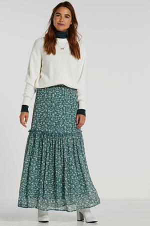 gebloemde rok Tami groen/beige