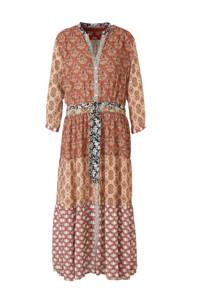 Summum Woman blousejurk met all over print en ceintuur multicolor, Multicolor