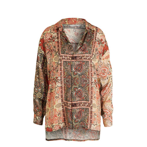 Summum Woman top met all over print multicolor