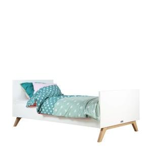bed 90X200 Lynn wit/naturel  (90x200 cm)