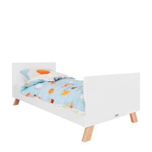 bed 90X200 Lisa wit/naturel  (90x200 cm)