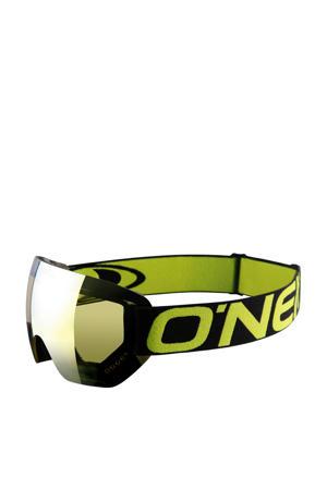 skibril zwart/lime groen
