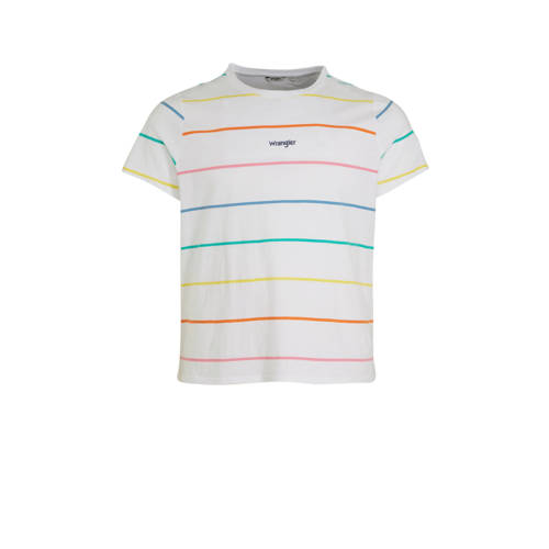 Wrangler Plus gestreept T-shirt wit/multi