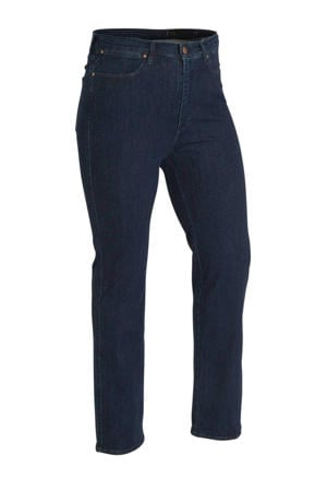high waist straight fit jeans donkerblauw