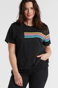 Wrangler Plus T-shirt met printopdruk zwart, Zwart