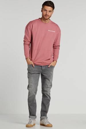 tapered fit jeans lichtgrijs