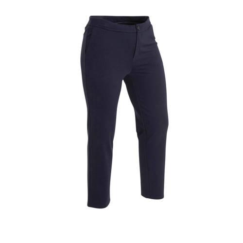 Yesta slim fit broek Angie donkerblauw