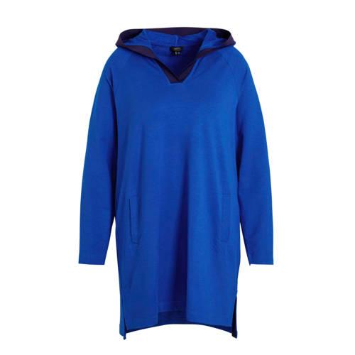 Yesta tuniek met contrastbies blauw/multi