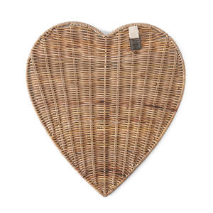 placemat Rustic Rattan Heart