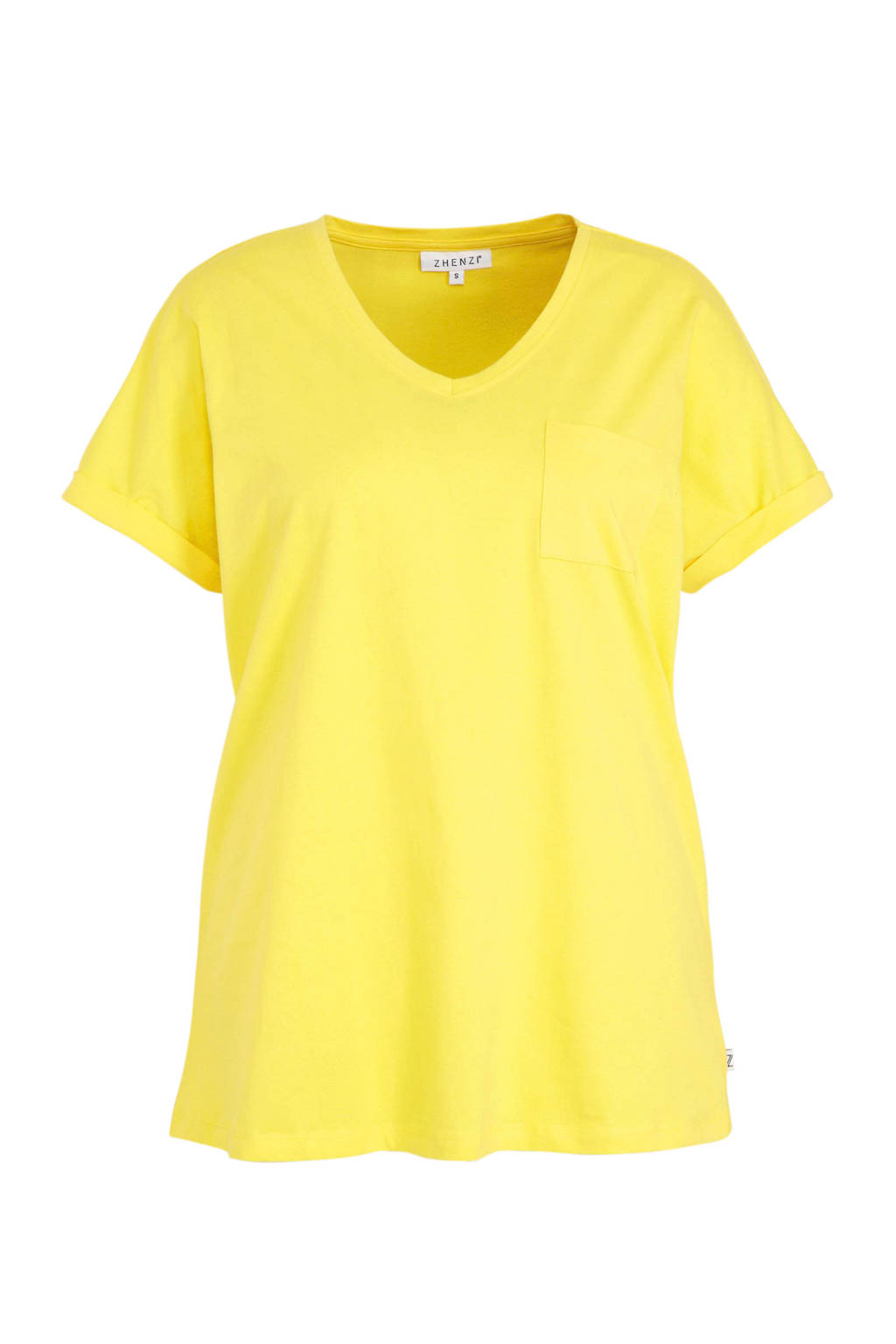 Zhenzi T-shirt geel, Geel