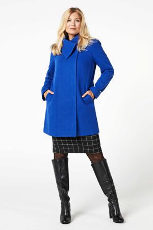 coat Chibau met wol blauw