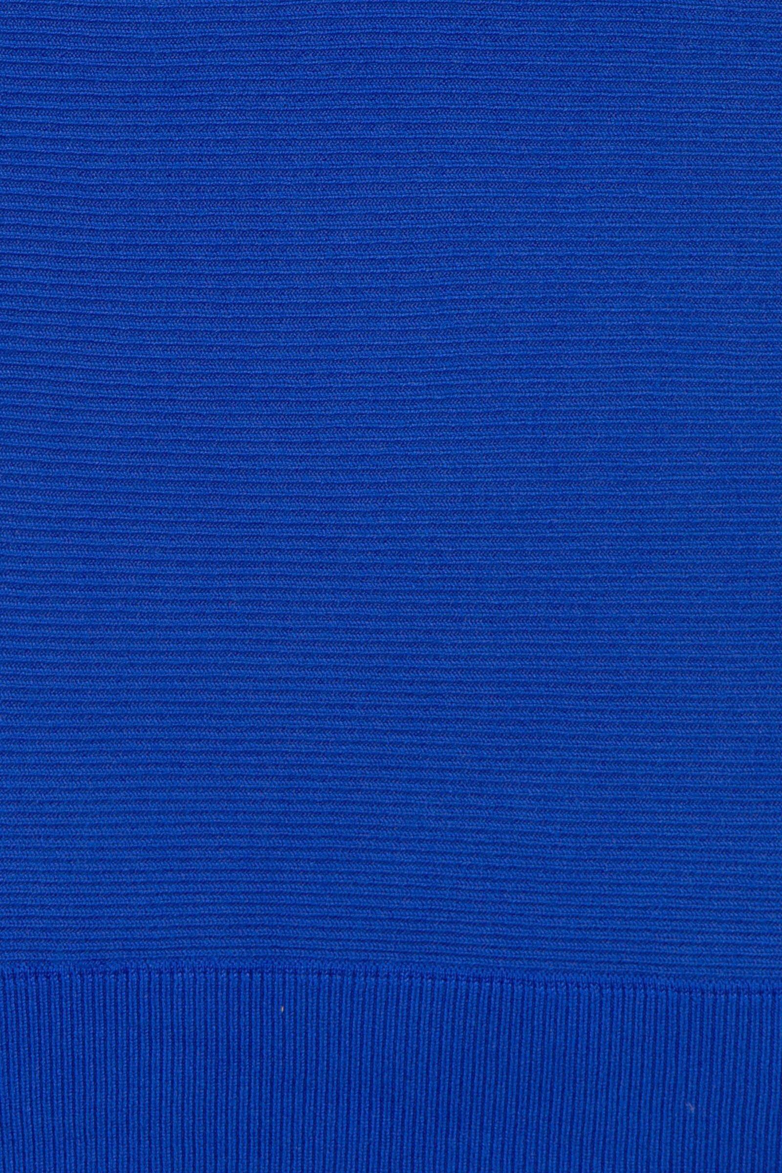 Miss Etam Lang ribgebreide trui blauw | wehkamp