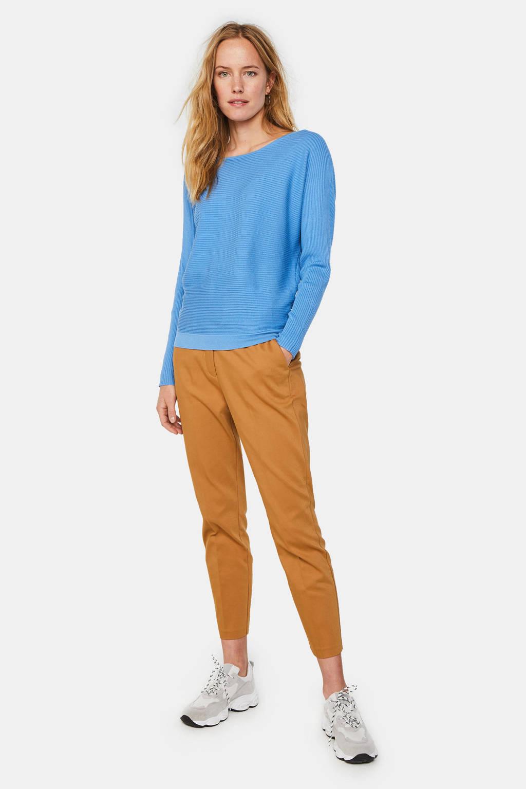 WE Fashion ribgebreide top blauw, Blauw