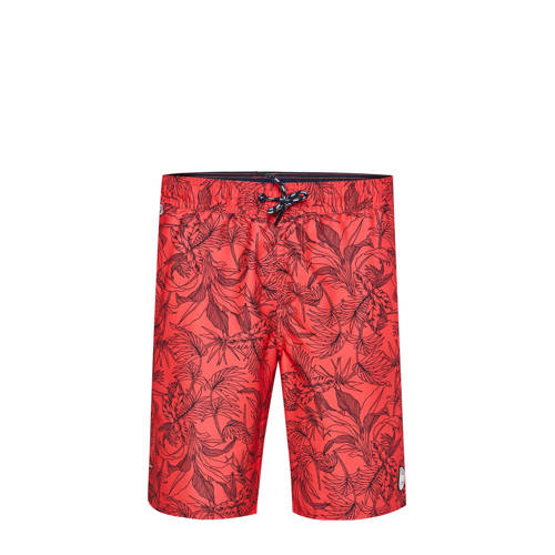 WE Fashion zwemshort met all over print rood/zwart