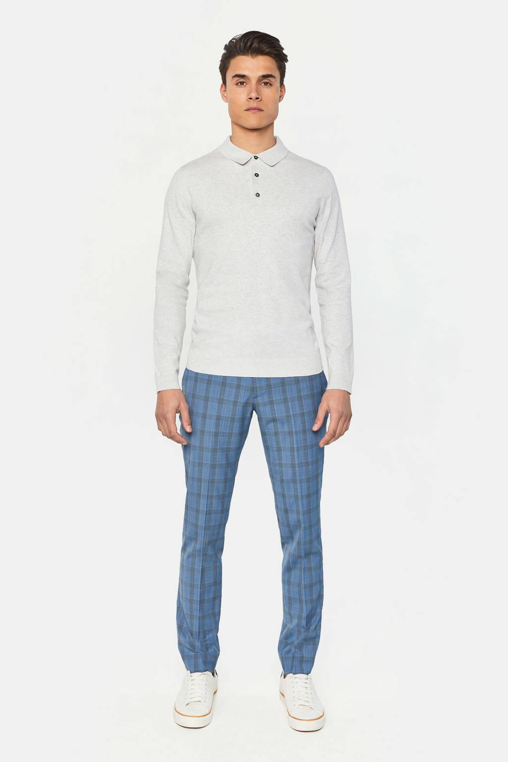 WE Fashion slim fit polo white melange, White Melange