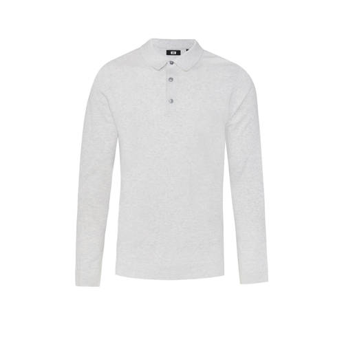WE Fashion slim fit polo white melange