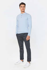 WE Fashion slim fit polo morning blue, Morning Blue