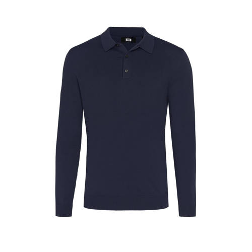 WE Fashion slim fit polo royal navy