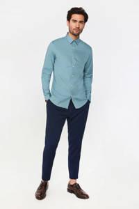 WE Fashion slim fit overhemd grey green, Grey Green