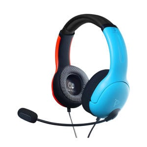 LVL40 Stereo gaming headset Nintendo Switch blauw/rood