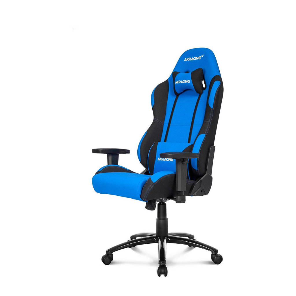 AKRacing Core EX gamestoel blauw/zwart, Zwart, Blauw
