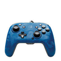 PDP Faceoff deluxe+ Audio wired controller, Blauw
