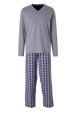 Angelo Litrico pyjama grijs/marine