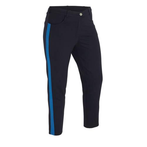 No Secret cropped slim fit broek met zijstreep don