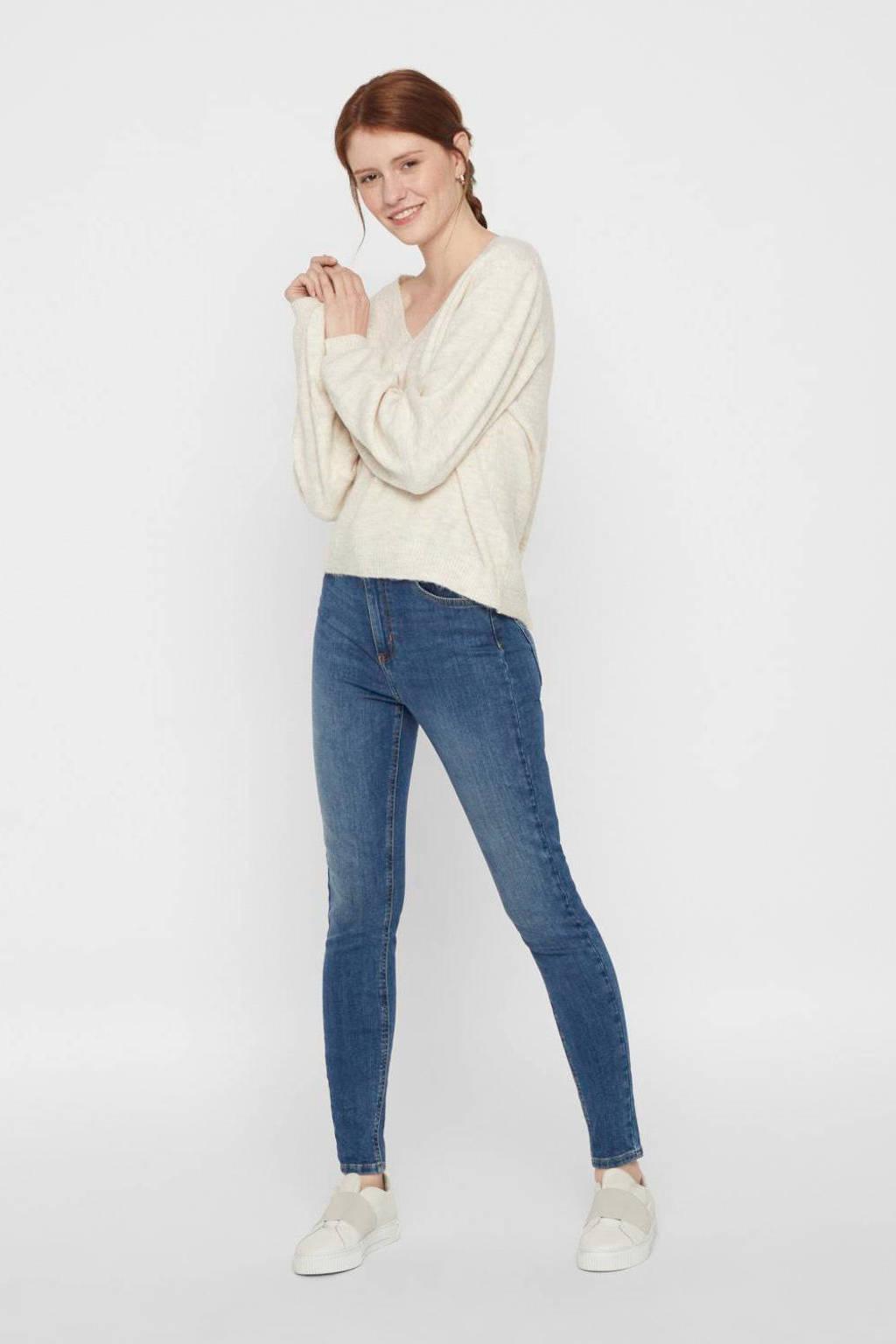 PIECES skinny jeans blauw, Blauw