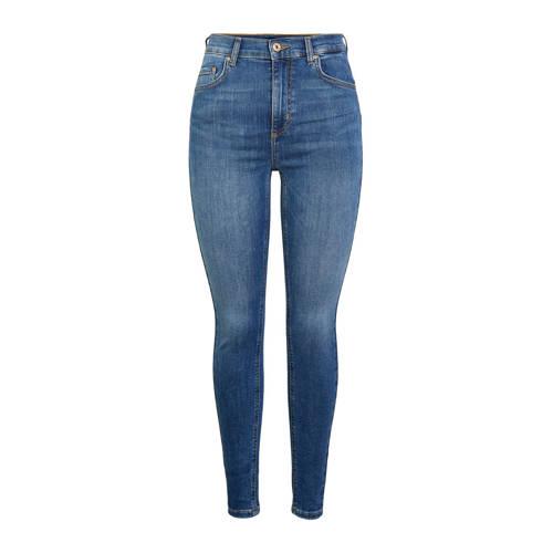 PIECES skinny jeans blauw