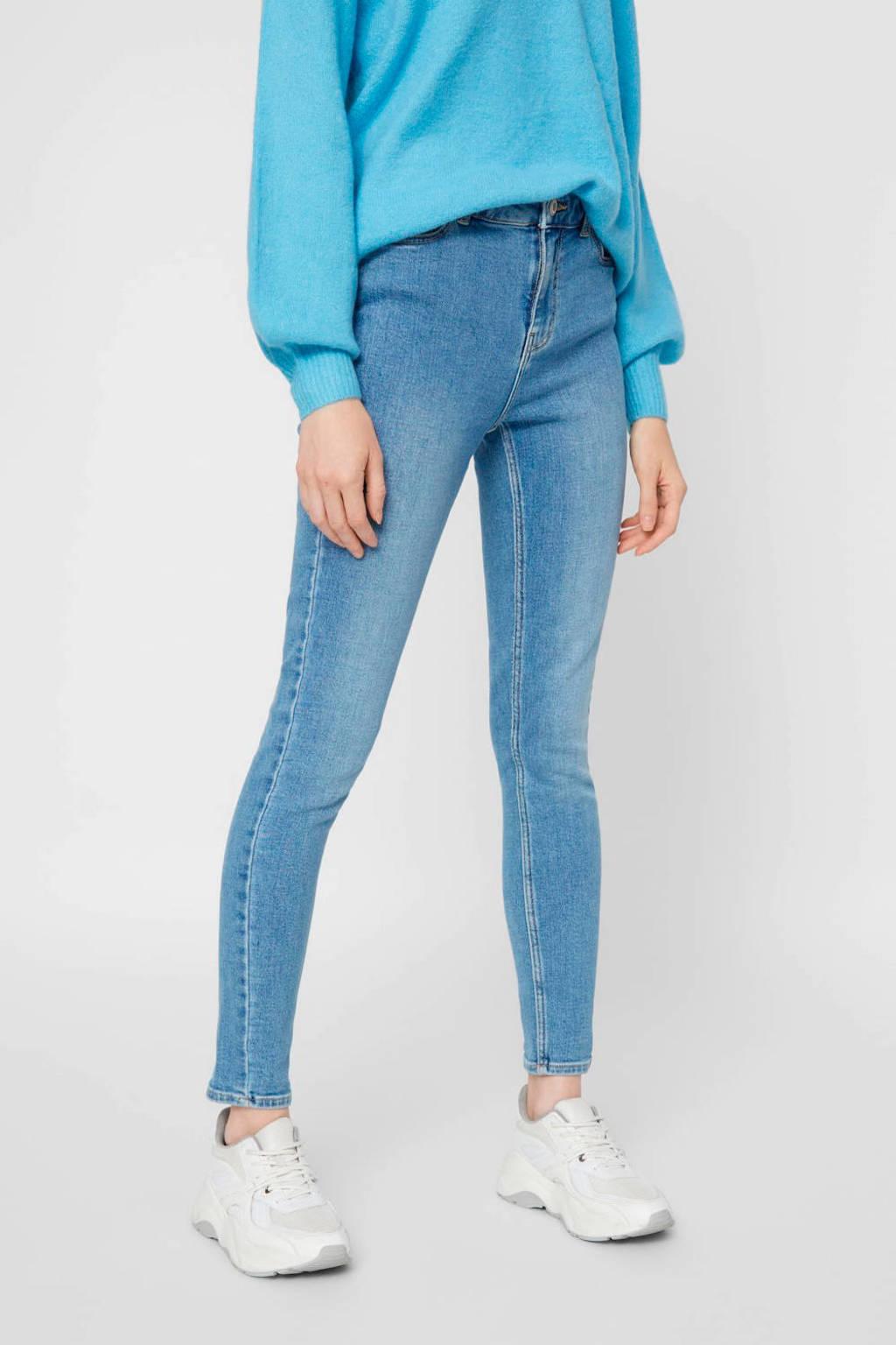 PIECES slim fit jeans lichtblauw, Lichtblauw