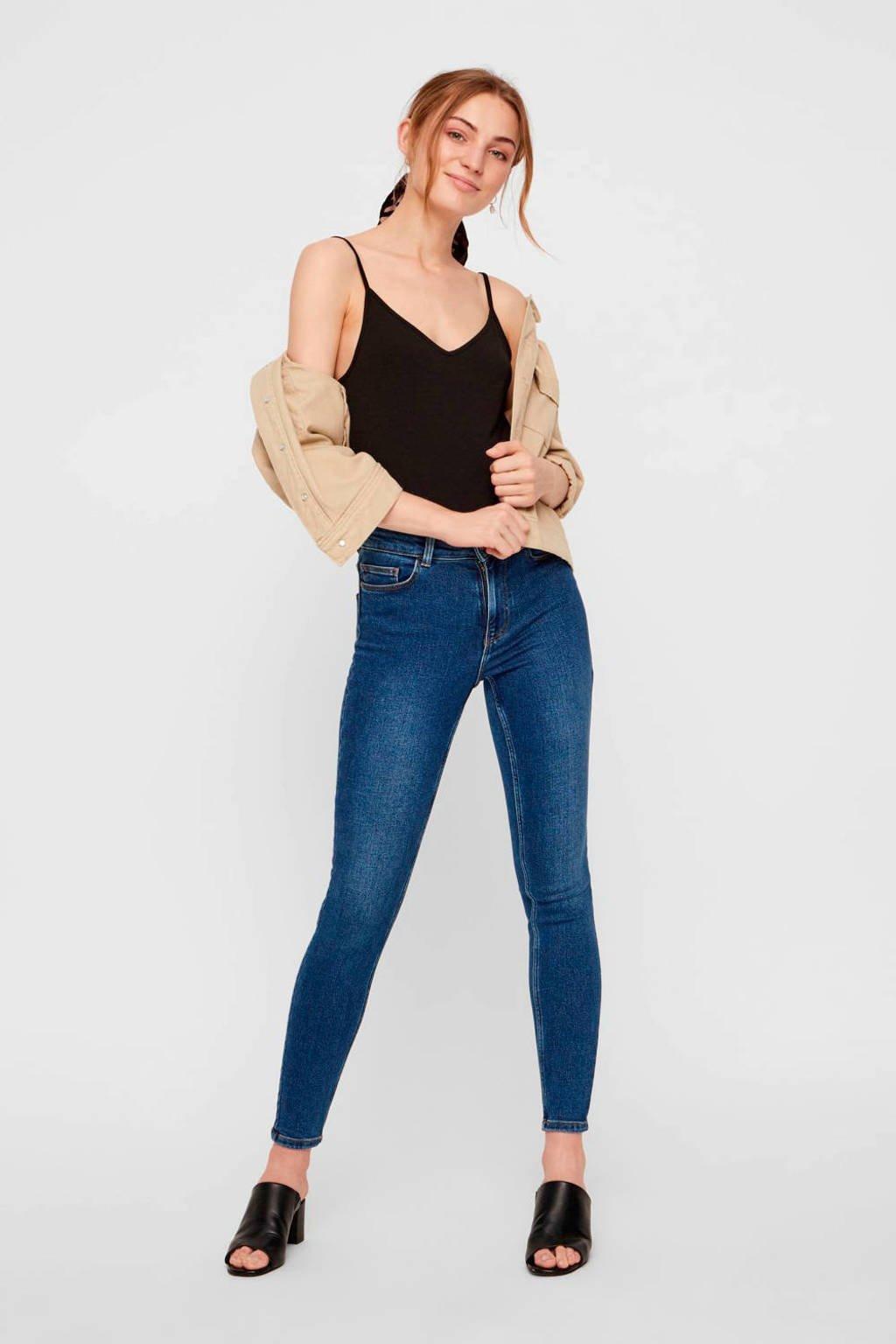 PIECES skinny jeans donkerblauw, Donkerblauw